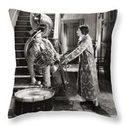 Silent Film Still: Music Throw Pillow