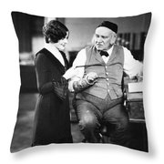 Silent Film Still: Offices Throw Pillow