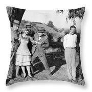 Silent Still: Punishment Throw Pillow