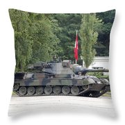 The Leopard 1a5 Of The Belgian Army Throw Pillow
