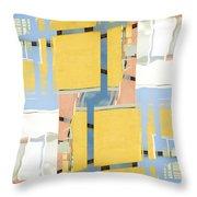 Urban Abstract San Diego Throw Pillow