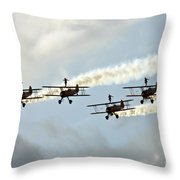 Wingwalkers Throw Pillow