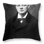 Winston Churchill Throw Pillow