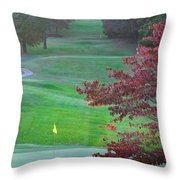 11th Hole At Clarksville C C Throw Pillow