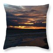 Bournemouth Sunset Throw Pillow