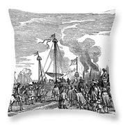 Charles II (1630-1685) Throw Pillow