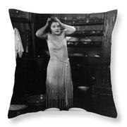 Damsel In Distress Throw Pillow