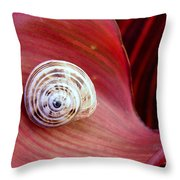 Garden Snail Throw Pillow