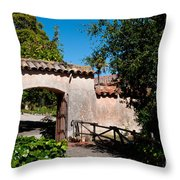 Gardens In Carmel Monastery Throw Pillow