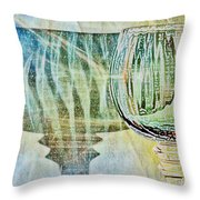 Shadow Of Wine Glass Throw Pillow