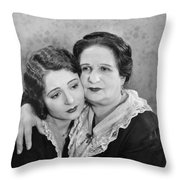 Silent Film Still: Women Throw Pillow