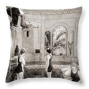 Silent Still: Bathing Throw Pillow