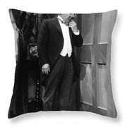 Silent Still: Single Man Throw Pillow