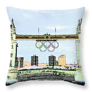 Tower Bridge Art Throw Pillow