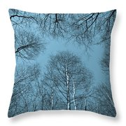 Trees In Epping Forest Throw Pillow