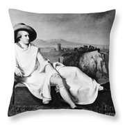 Johann Goethe (1749-1832) Throw Pillow