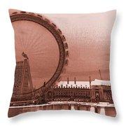 London Eye Art Throw Pillow