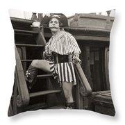 Silent Film Still: Pirates Throw Pillow by Granger