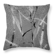 Water Reed Digital Art Throw Pillow