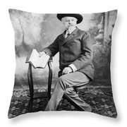 William F. Cody (1846-1917) Throw Pillow