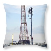 13 Year Old Pitching At Coney Island Cyclones Stadium Throw Pillow
