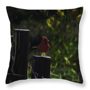 1384 Posted Throw Pillow