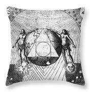 Alchemy Illustration Throw Pillow