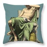 Aristotle, Ancient Greek Philosopher Throw Pillow