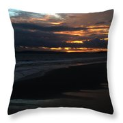 Bournemouth Sunset Throw Pillow