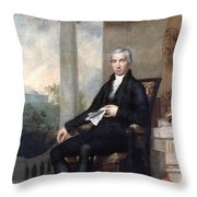 James Monroe (1758-1831) Throw Pillow
