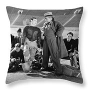 Silent Film Still: Sports Throw Pillow by Granger