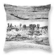 Battle Of Concord, 1775 Throw Pillow