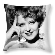 Clara Bow (1905-1965) Throw Pillow
