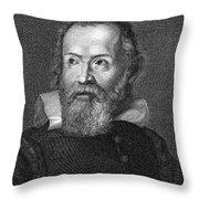 Galileo Galilei (1564-1642) Throw Pillow