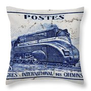 old French postage stamp Throw Pillow