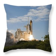 Space Shuttle Atlantis Lifts Throw Pillow