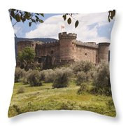 15th Century Castle Of The Duke Of Throw Pillow