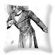 Benjamin Disraeli (1804-1881) Throw Pillow