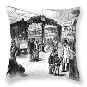Centennial Fair, 1876 Throw Pillow