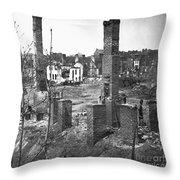 Civil War: Richmond, 1865 Throw Pillow