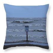 Hurricane Sandy Throw Pillow