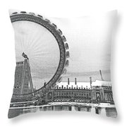 London Eye Art Throw Pillow