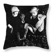 Silent Still: Man & Woman Throw Pillow