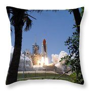Sts-121 Launch Throw Pillow