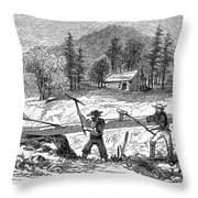 California Gold Rush Throw Pillow