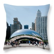 Chicago City Scenes Throw Pillow