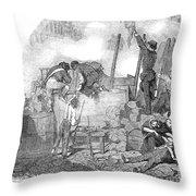 France: Revolution Of 1848 Throw Pillow