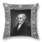 John Adams (1735-1826) Throw Pillow