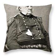 Winfield Scott (1786-1866) Throw Pillow