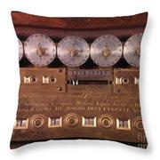 17th Century Calculating Machine Throw Pillow